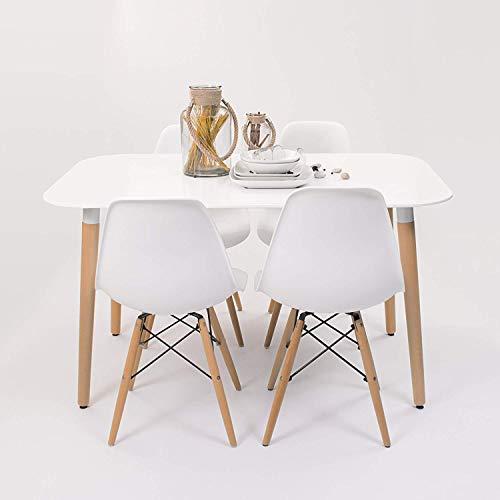Conjunto Comedor diseño nórdico NORDIK-MAX Mesa