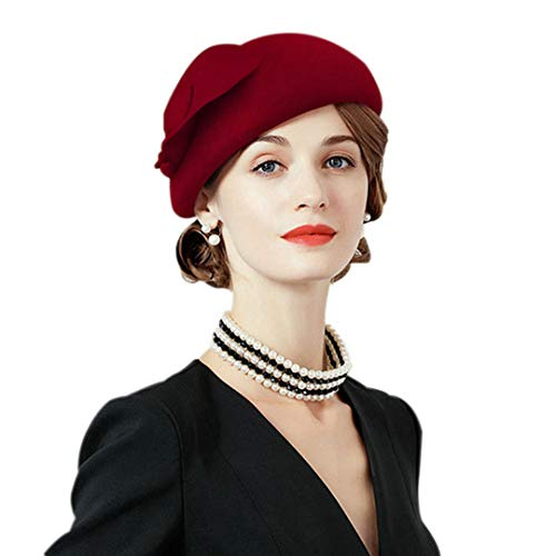 OLADO Fedora-Hut für Frauen Fascinators Wolle Vintage Damen Hochzeit Party Pillbox Hüte