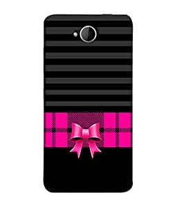 PrintVisa Designer Back Case Cover for Microsoft Lumia 650 :: Microsoft Lumia 650 Dual SIM (Pink Check Frock Ribbon Stripes Blinds)