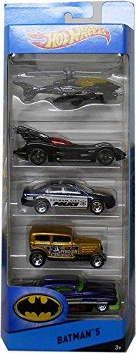 Hot Wheels Batman 5 HW City - Juego de vehículos (5 unidades)