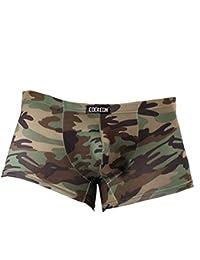 Vividda Camuflaje calzoncillo retro Trunks la ropa interior de los hombres militares de Underpant
