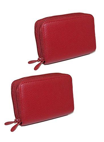 Buxton Damen Mini Akkordeon Wizard Geldbörse, Leder, 2 Stück Gr. One Size, rot -