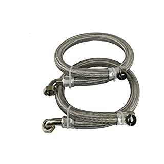 Stainless Steel Braided Hoses For Water Softeners & Water Filtration (22mm)