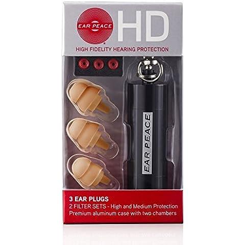 EarPeace HD - Protección Auditiva de Alta Fidelidad (Tapones de Oído) (Tapones Café Claro / Caja