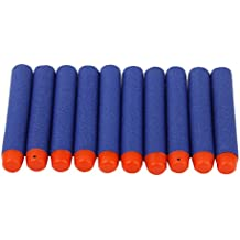 100pcs Balas de Juguete de Espuma para Pistola Juguete de Color Naranja y Azul