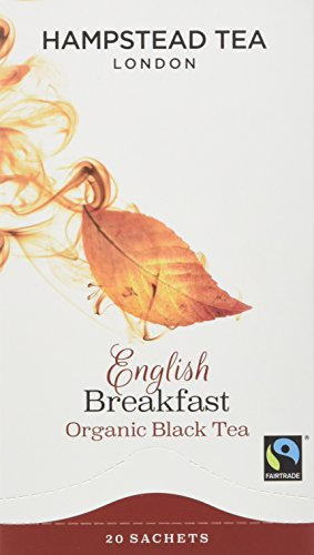 Hampstead Organic English Breakfast 20 Teabags (Pack of 4 Total 80 Teabags)