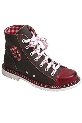 Spieth & Wensky Sneaker Jacky braun/rot rustikal, braun/rot, 42