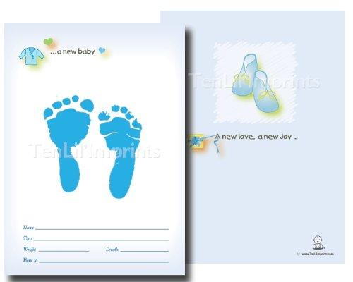 tenlil'imprints Geburt Ankündigung Kit, Blau