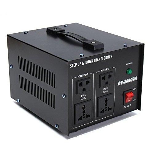 2000 Watt Stromwandler Voltage Converter 220V auf 110V Step Up and Down Voltage Regulator Converter Power Transformer 2000Watts 110V auf 220V Converter AC-AC 2000W