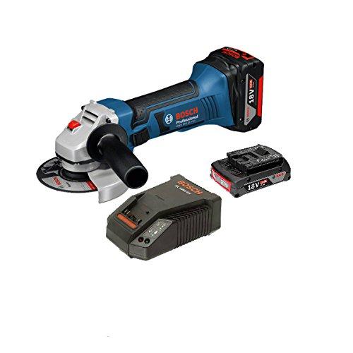 Preisvergleich Produktbild Set Bosch GWS 18 – 125 V-LI + Akku 18 V 2.0 Ah + Ladegerät