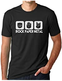 OM3 ROCK PAPER METAL BLACK - T-Shirt ROCK PAPER SCISSORS HARDROCK HEAVY, S - 5XL, black