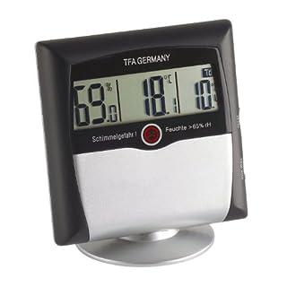 TFA Dostmann Comfort Control digitales Thermo-Hygrometer, 30.5011, mit Schimmelalarm, Raumklimakontrolle, Überwachung der Luftfeuchtigkeit, klein und handlich