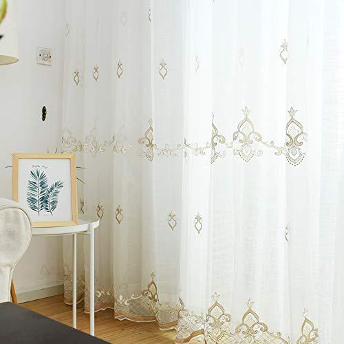 Tende trasparenti white modern window thick semi sheer door tenda tende per trattamenti protettivi privacy window voile curtain,hooks,1pcs(400 * 270cm)