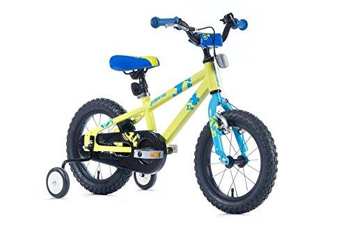 """14\"""" Zoll Aluminium Fahrrad Leader Fox Kinderrad Snake Boy MTB blau grün"""