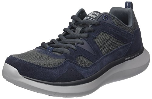 Skechers Herren Quantum-Flex-Country Walker Sneaker, Blau (Navy/Grey), 44 EU - Herren-freizeit-walker