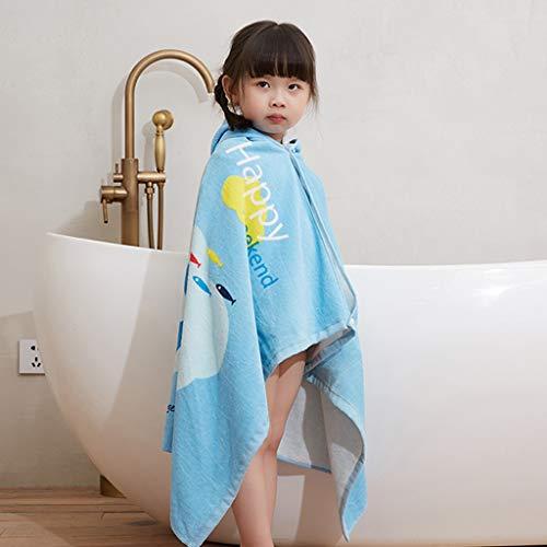 Tier Kapuze Baby-Handtuch Waschlappen Ultra Soft und Extra Large, 100% Baumwolle Bademantel for Dusche Geschenk for Jungen oder Mädchen (2-6 Jahre) (Color : Whale)