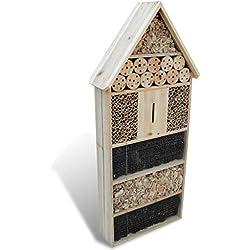 Galapara Hôtel boîte à Insectes XXL 50 x 15 x 100 cm Maison des Insectes en Bois Jardin Balcon en Bois Maison abri pour Insectes