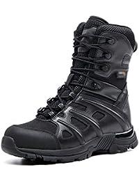 wthfwm Botas de Senderismo para Hombre Botas de Combate tácticas Militares Zapatillas de Trekking con Cremallera
