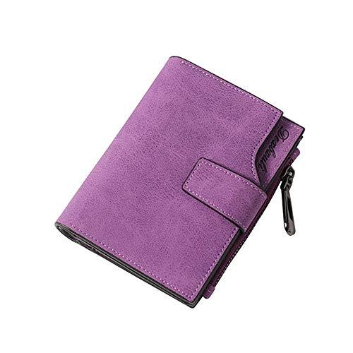 Geldbörsen Damen Felicove, Vintage Fashion Top Qualität Kleine Brieftasche Leder Geldbörse Female Money