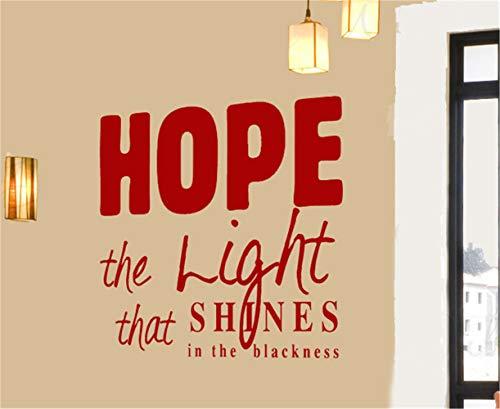 wandaufkleber sterne leuchtend Hoffnung das Licht, das in der Schwärze glänzt