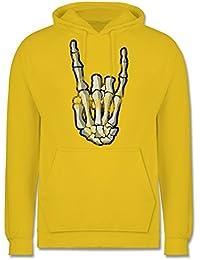 542e35ddc198 Metal - Metal Horns Skelett Hand - Männer Premium Kapuzenpullover   Hoodie