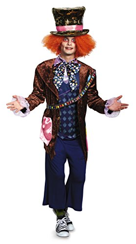 Deluxe Mad Adult Hatter Kostüm - Adult Deluxe Mad Hatter Fancy dress costume X-Large