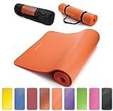 Readaeer® Fitnessmatte Yogini für Gymnastik Yoga Pilates 183 x 61 x 1,0 cm mit Tasche und Tragegurt(orange)