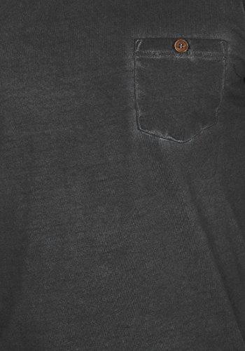 !Solid Tinny Herren T-Shirt Kurzarm Shirt V-Ausschnitt Brusttasche Aus 100% Baumwolle Black (9000)