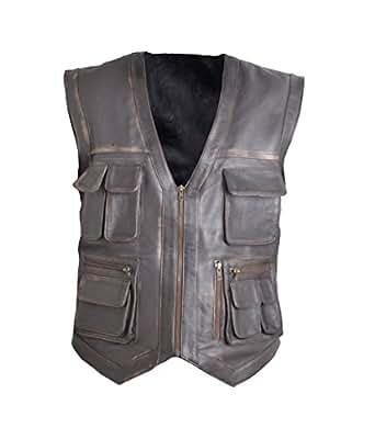 Xxs Vest 5xl Cowhide Brown Leather Hls Park Jurrasic RAwqBBXp 3846c908669