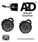 #9: A2D 9 LED Small Handle Mirror Mount AUX Bike Fog Lamp Light Set of 2-White