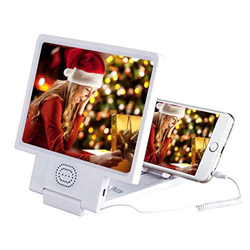 Cooljun Universal Handy 3D Bildschirm Lupe Handy-Lupe Vergrößerungs-Lupe mit 3-facher...