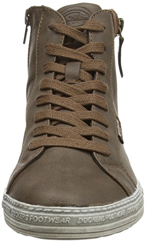 Dockers by Gerli 32LN213, Sneakers femme Marron (Dunkelbraun 380)