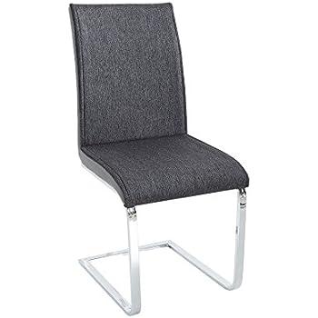 Moderner design schwinger stuhl elegance anthrazit grau for Ac design stuhl nora