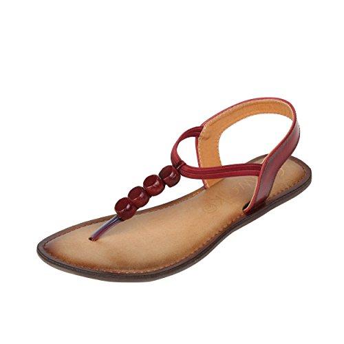 Catwalk Women's Maroon Fashion Sandals-7 UK/India (39 EU)(3496EE-7)