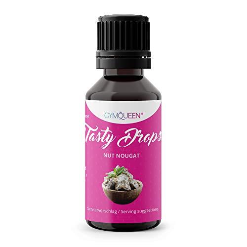 Flave drops | Flavour Drops zuckerfrei | für Wasser zum Kochen & Backen | flüssig Süßstoff | Gym Queen Flavdrops | Tasty Drops - Nuss Nougat 30ml