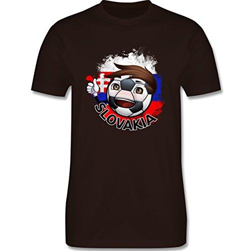 EM 2016 - Frankreich - Fußballjunge Slowakei - Herren Premium T-Shirt Braun