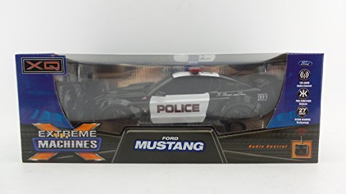 XQ Extreme Machines 1:18 Ford Mustang 911 Police Car Full Function Vehicle  Radio Control With Tri-band 27 Mhz Channel For Kids Age 8+ by XQ