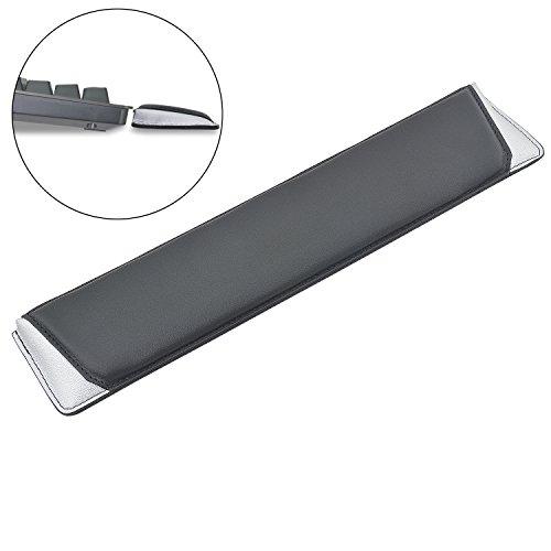 Rancco® Tastatur Handgelenk Rest Pad, 46 cm Ergonomische Handgelenkauflage Weiche Unterstützung Pad für Laptops/notebooks/MacBooks/Computer, Kunstleder(Silber) - Tastatur-handgelenk-rest-pad