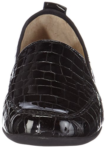 Hassia - Petra, Weite G, Mocassins Femmes Noir (schwarz (0100 Schwarz))