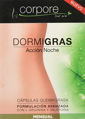 """Corpore Diet Complementos Alimenticios de Control de Peso \""""Dormigras\"""" Acción Noche - 60 Cápsulas"""