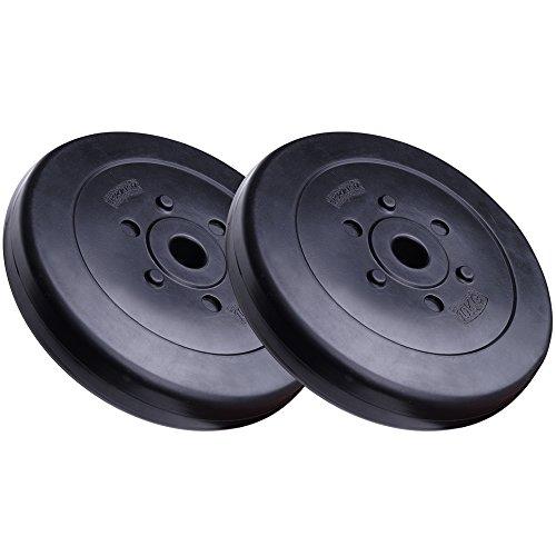 ScSPORTS 20 kg Hantelscheiben-Set Kunststoff 2 x 10 kg Gewichte 30/31 mm Bohrung