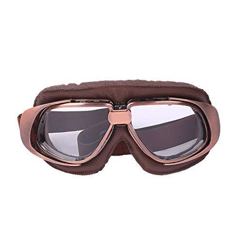 KOMNY WoSporT Vintage Aviator Pilot Fliegerbrille Ski Snowboard Skate Schneemobil Anti-Fog-Sonnenbrille Retro Jet Helm Eyewear Brille, D