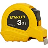 STANLEY STHT36125-812 3 Meter Plastic Short Measuring Tape (Yellow)