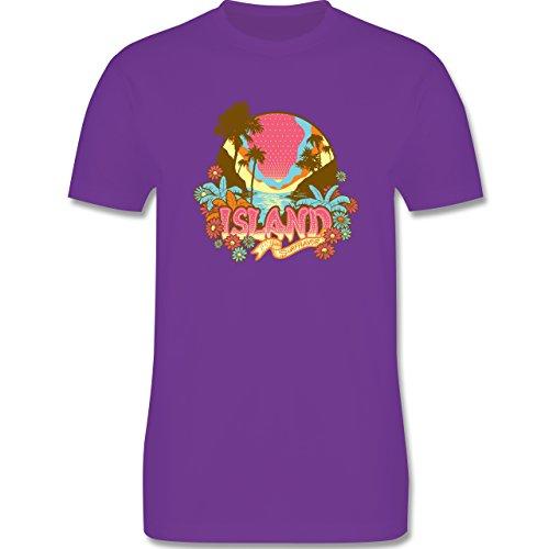Blumen & Pflanzen - Urlaub Surfer - Herren Premium T-Shirt Lila