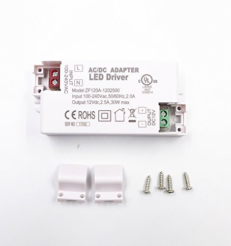 JZK® Transformateur de LED convertisseur de pilotes 12v max 30w pour l'éclairage de LED, G4, MR11, MR16 etc.