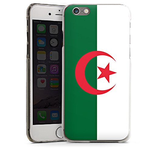 Apple iPhone 6 Housse Étui Silicone Coque Protection Algérie Drapeau Ballon de football CasDur transparent