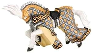 Papo - 39925 - Figurine - Cheval du Maître des Armes - Cimier Cygne