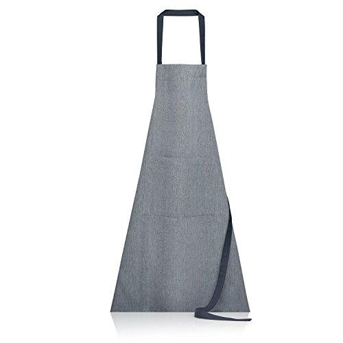 Winkler - Tablier de cuisine - Tablier de cuisine réglable - Tablier pour la cuisine - Tablier barbecue - Tablier 100% Coton - 80 x 85 - Ombre Gris - Jani