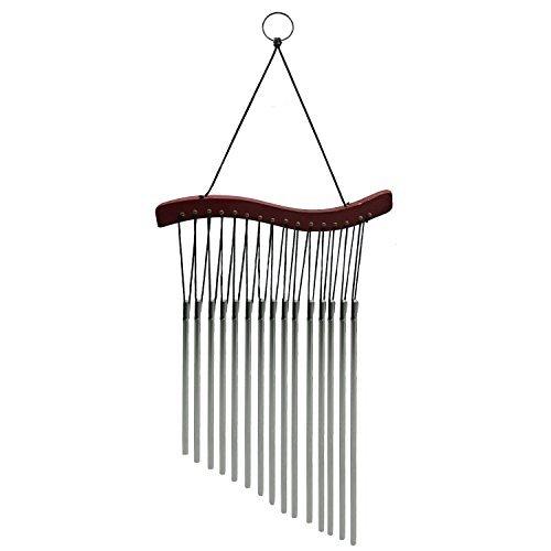 Maymii Windspiel, 15 Röhren, Holz, Metall, Feng Shui, heilend, Metall-Sound, für Haus und Garten, Wohndeko