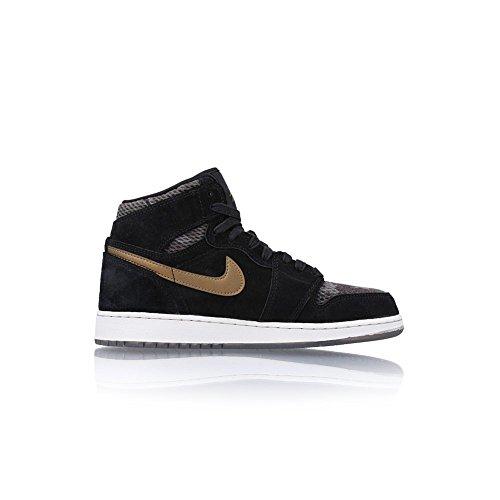 Schuhe 5y Jordan (Jordan Schuhe – Air 1 RET Hi Prem HC (GS) Schwarz/Golden/Weißlicher Größe: 37.5)